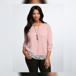 Torrid | layered lace sweater